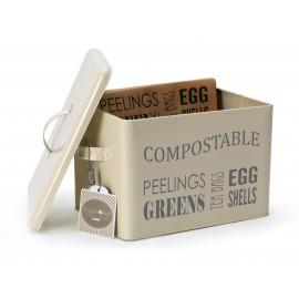 Kompostilaatikko - kermanvaalea